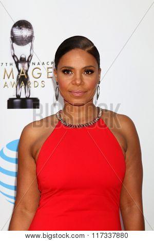LOS ANGELES - FEB 5:  Sanaa Lathan at the 47TH NAACP Image Awards Arrivals at the Pasadena Civic Auditorium on February 5, 2016 in Pasadena, CA
