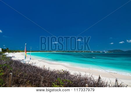 Stunning Rendezvous Bay beach on Caribbean island of Anguilla