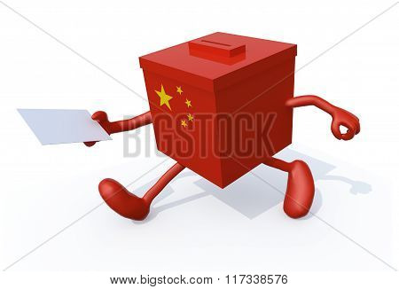 China Election Ballot Cartoon