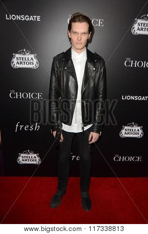 LOS ANGELES - FEB 1:  Luke Baines at the The Choice Special Screening at the ArcLight Hollywood Theaters on February 1, 2016 in Los Angeles, CA