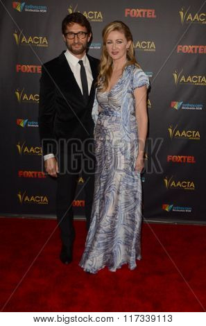 LOS ANGELES - JAN 29:  Jonathan LaPaglia, Ursula Brooks at the 2016 AACTA International Awards at the PETA's Bob Barker Building on January 29, 2016 in Los Angeles, CA