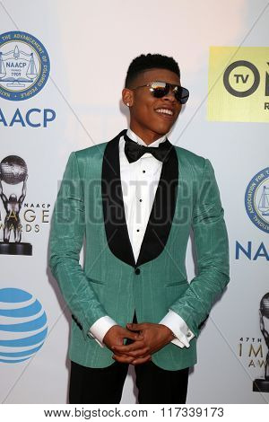 LOS ANGELES - FEB 5:  Bryshere Yazz Gray at the 47TH NAACP Image Awards Arrivals at the Pasadena Civic Auditorium on February 5, 2016 in Pasadena, CA