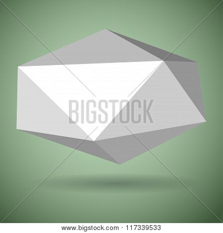 White Low Polygonal Speech Bubbles