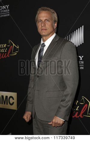 LOS ANGELES - FEB 2:  Patrick Fabian at the Better Call Saul Season Two Special Screening at the ArcLight on February 2, 2016 in Culver City, CA