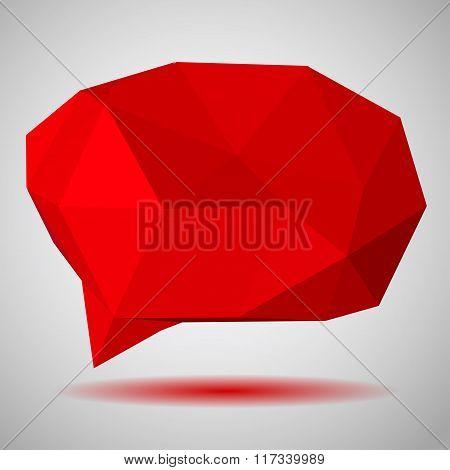 Red Low Polygonal Speech Bubbles