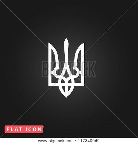 Trident flat icon