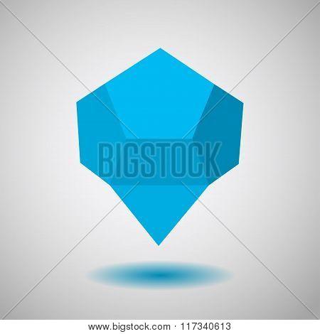 Blue Low Polygonal Speech Bubbles