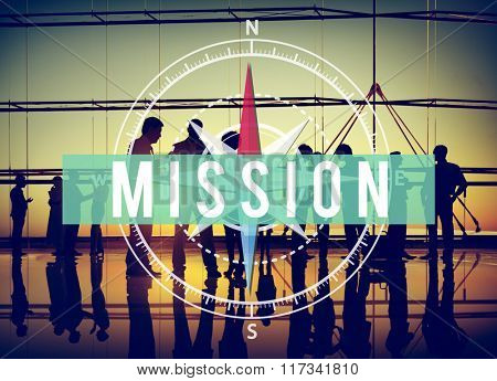 Mission Aim Aspiration Business Goals Concept
