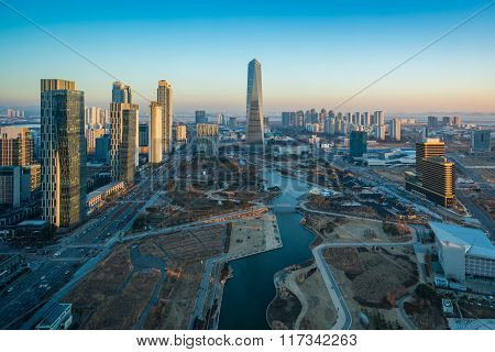 Korea,songdo Central Park In Songdo International Business District
