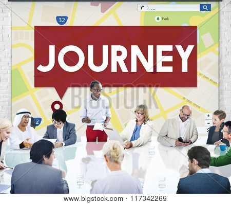 Journey Location Map Navigation GPS Concept