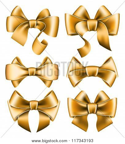 Six gold bows