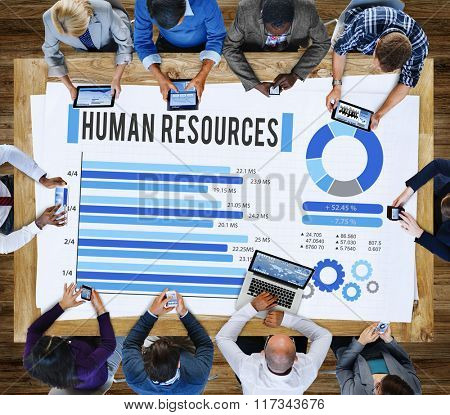 Human Resources Employment Career Plan Concept