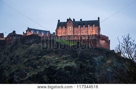 Historic Fortress In Edinburgh