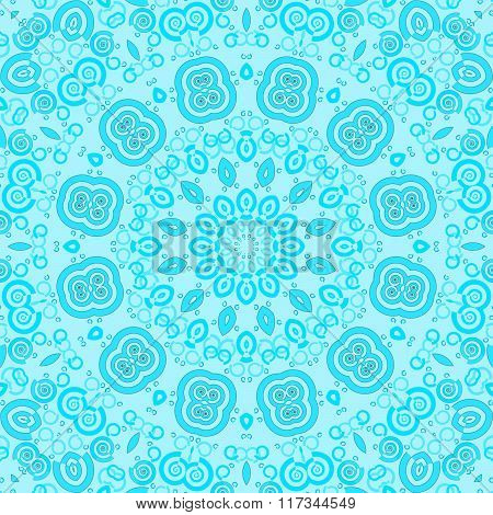 Seamless ornament turquoise blue