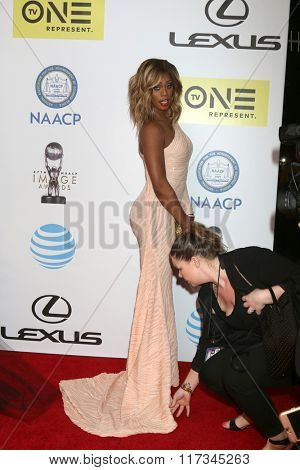 LOS ANGELES - FEB 5:  Laverne Cox at the 47TH NAACP Image Awards Arrivals at the Pasadena Civic Auditorium on February 5, 2016 in Pasadena, CA