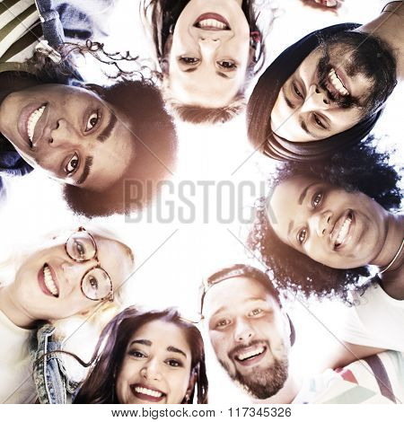 Friends Friendship Bonding Circle Relationship Fun Concept