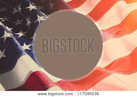 American flag background with sunlight and space for your text