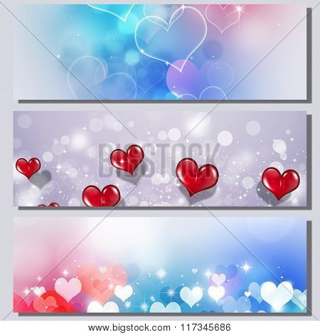 Multicolor Valentine Banners