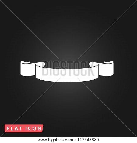 Simple ribbon flat icon