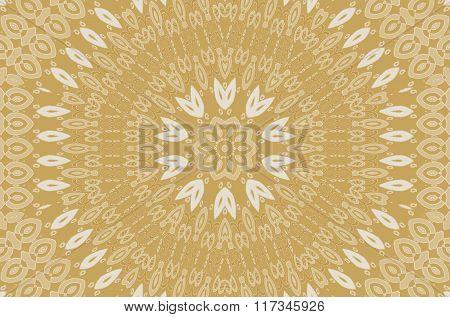 Seamless ornament beige brown white