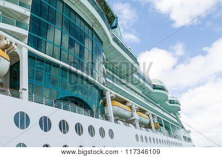 Glass Wall In Luxury Cruise Ship