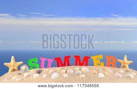 Summer Letters On A Beach Sand