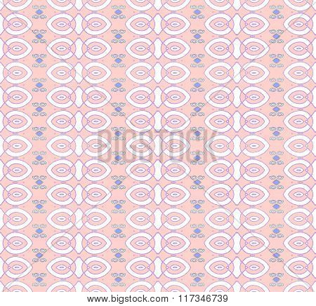Seamless ellipses and diamond pattern pink white