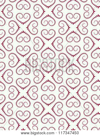 Seamless lace pattern. Vintage curled texture. Swirl floral heart signs. Twist ornament of laurel le