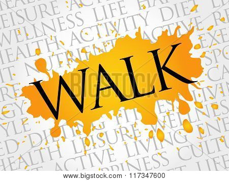 Walk Word Cloud, Fitness, Sport