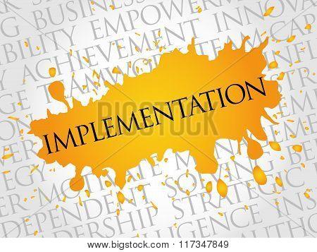 Implementation Word Cloud
