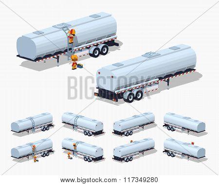 Silver tank trailer