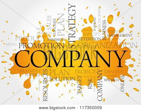 COMPANY word cloud business concept, presentation background