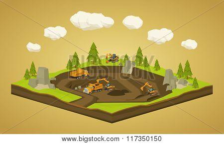 Quarry. Dig site
