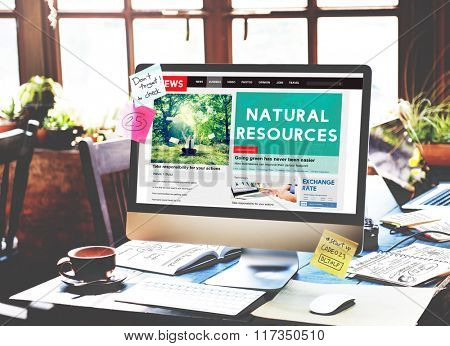 Natural Resources Environmental Conservation concept