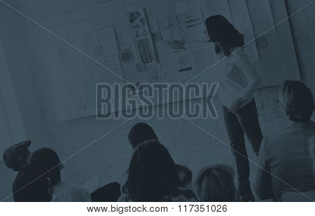 Business Presentation in a Trendy Office Concept