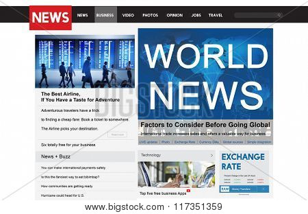 World News Communication Connection Social Travel Concept