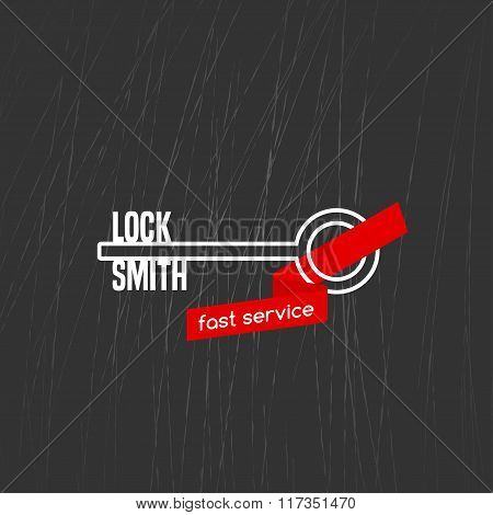 Locksmith vector logo, icon.