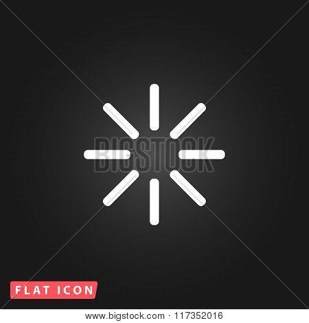 Waiting flat icon