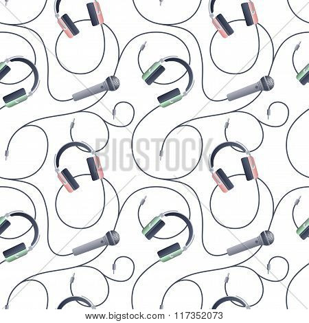 Seamless pattern with music symbols