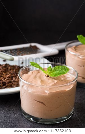 Fresh chocolate mousse