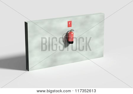 Fire Extinguisher On Grey Wall