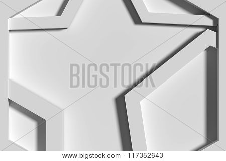 Close-up Of Three-dimensional White Angles