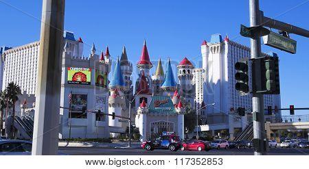 An Excalibur Shot At Tropicana And Las Vegas Boulevard