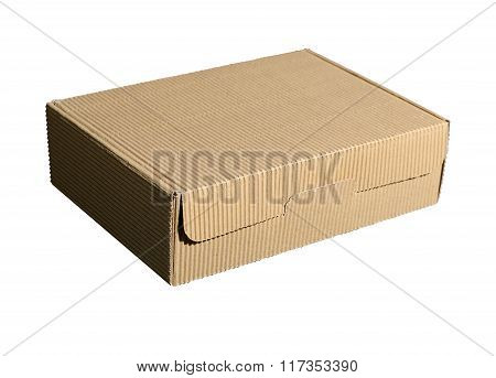Cardboard Blank Box isolated over white background