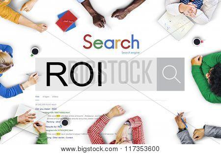 ROI Return Investment Corporate Finance Money Concept