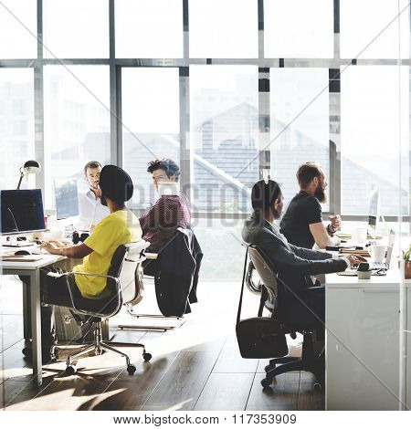 Business Computer Communication Teamwork Concept