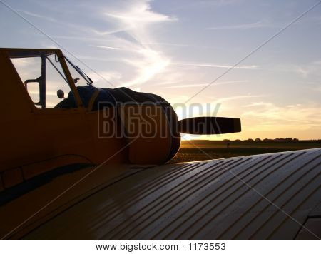 Plane With Sunset