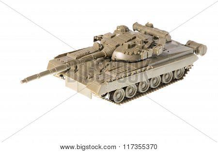 Scale Model Of Soviet T-80 Tank