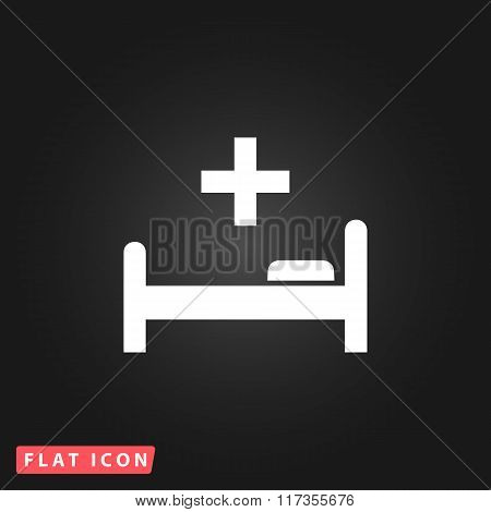 Hospital bed and cross