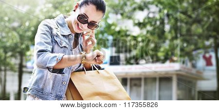 Shopping Female Woman Young Buying Purchase Concept